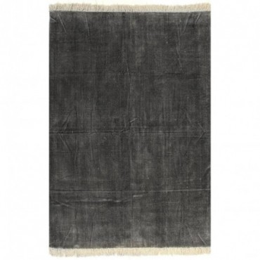 Tapis Kilim Coton Anthracite 120x180cm