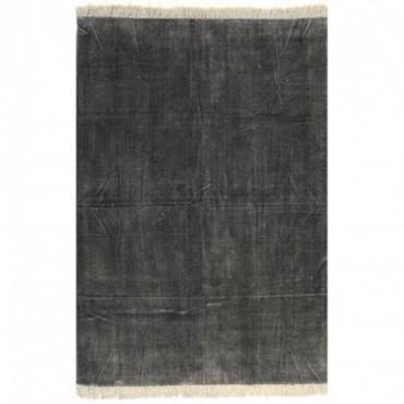 Tapis Kilim Coton Anthracite 200x290cm