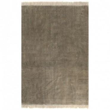 Tapis Kilim Coton Taupe 160x230cm