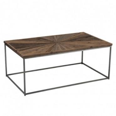Table De Salon Shanil Bois/Metal Naturel/Gris