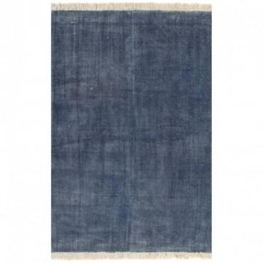 Tapis Kilim Coton Bleu 200x290cm