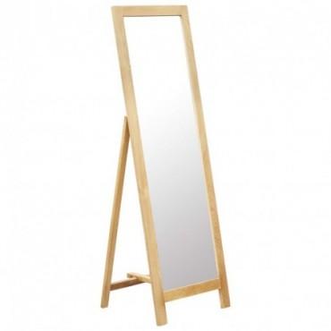 Miroir sur pied Bois de chêne solide 48x46,5x150cm