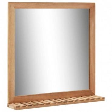 Miroir de salle de bain Bois de noyer massif 60x12x62cm