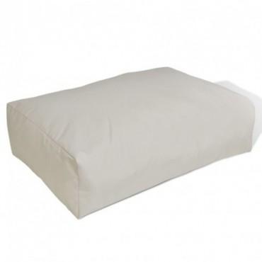 Coussin pour le dos Sable blanc 60x40x20cm