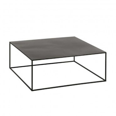 Table de salon carree metal noir de marque J-line