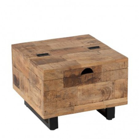 Table Gigogne Coffre Carree Manguier Naturel