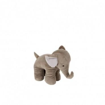 Cale Porte Elephant Textile Gris Petite taille