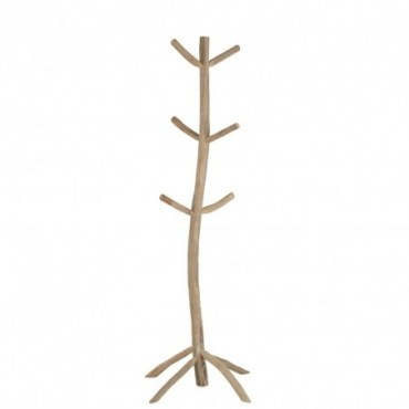 Portemanteau 6 Branches Teck Naturel