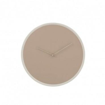 Horloge Ronde bois Beige/Blanc Grande taille