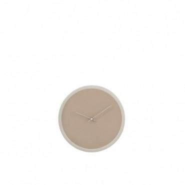 Horloge Ronde bois Beige/Blanc Petite taille
