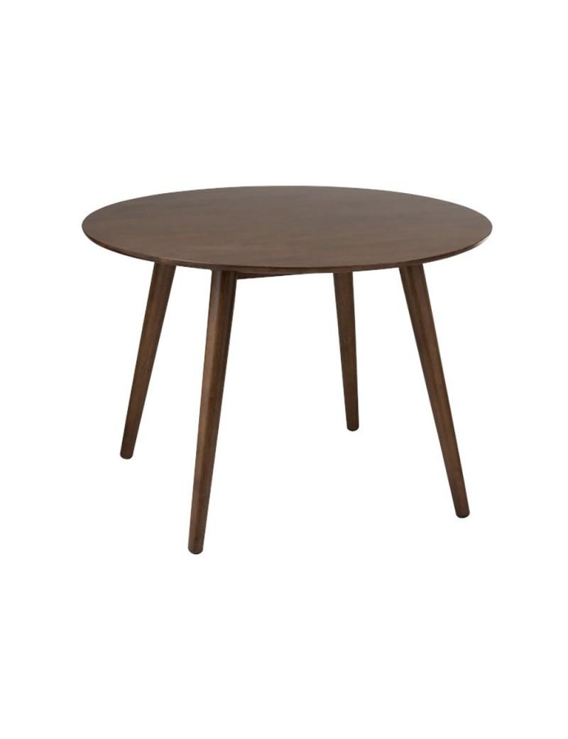 Table Ronde Vintage Bois Marron