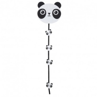 Guirlande Photo Clips Panda Bois Blanc/Noir