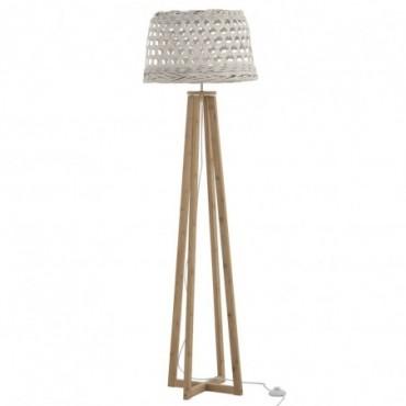 Lampe sur pied Muna Bambou/Sapin Blanc/Naturel