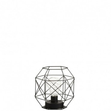 Lampe Led Polygone 2 piles AA Fer Noir