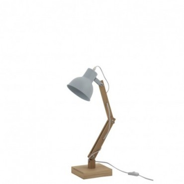 Lampe Denis Sapin/Metal Bleu C