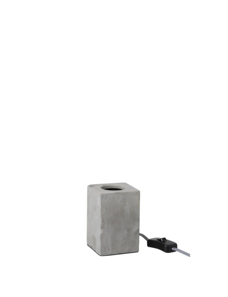 Lampe Carrée Ciment Gris