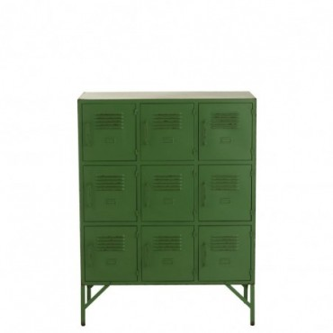 Armoire 9 Portes Metal Vert