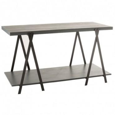 Table De Presentation Bois/Metal Gris