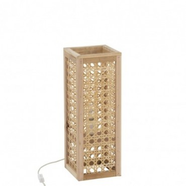 Lampe Rectangle Bambou Naturel S