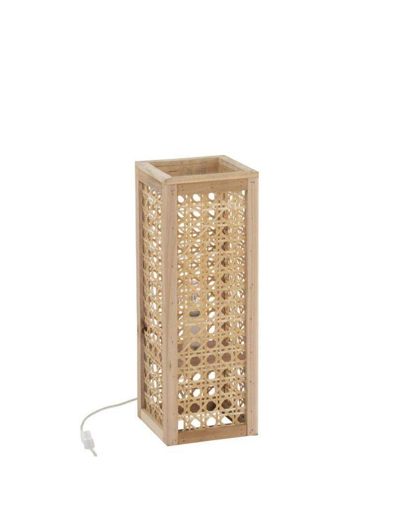 Lampe Rectangle Bambou Naturel S