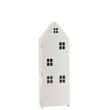 Armoire Maison Haute Avec Porte Bois /Contreplaqué Blanc