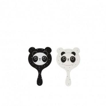 Miroir Panda Bois Blanc/Noir (Assortiment de 2)