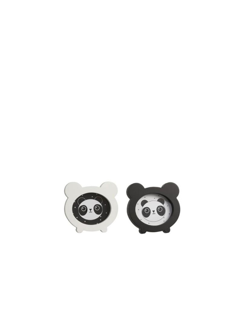 Cadre Photo Panda Bois Blanc/Noir (Assortiment de 2)