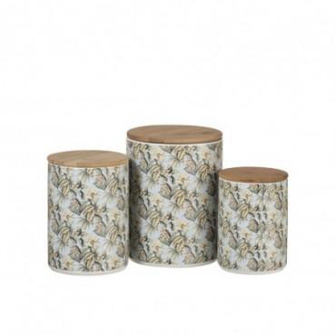 Set de 3 pots Provision Dolomite Bambou