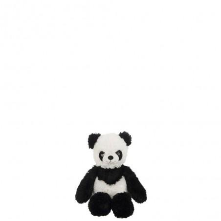 Panda Assis Peluche Noir/Blanc S