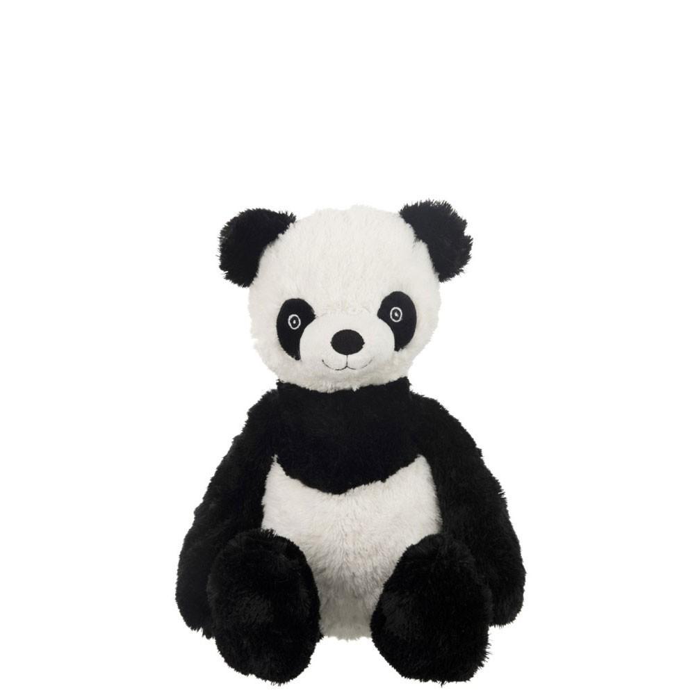 Panda Assis Peluche Noir/Blanc L