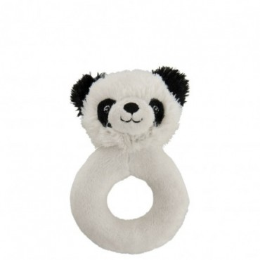 Hochet Panda Peluche Noir/Blanc