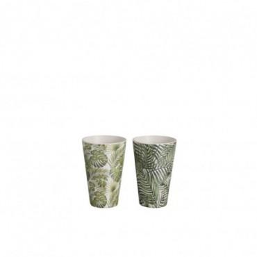 Gobelet Tropical Bambou Vert (Assortiment de 2)