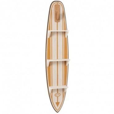 Etagere Planche De Surf Bois Blanc/Ocre