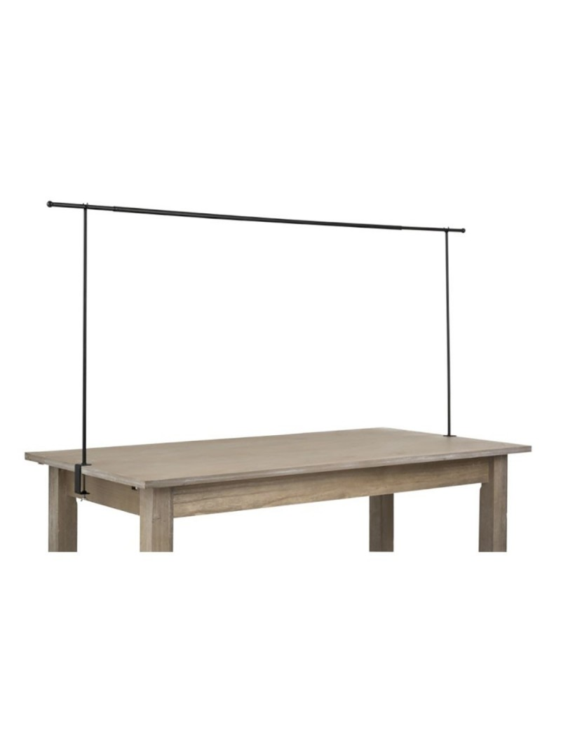 Barre Decorative Pour Table Ajustable Metal Noir