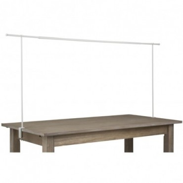 Barre Décorative Pour Table Ajustable Metal Blanc