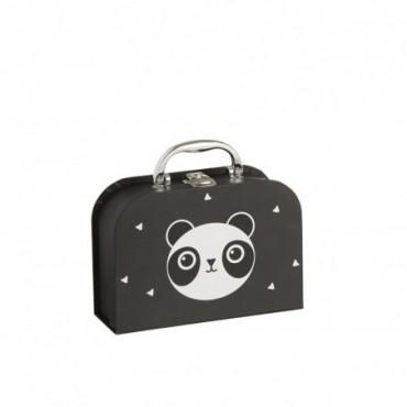 Valise Souvenir Bebe Panda Papier Noir/blanc
