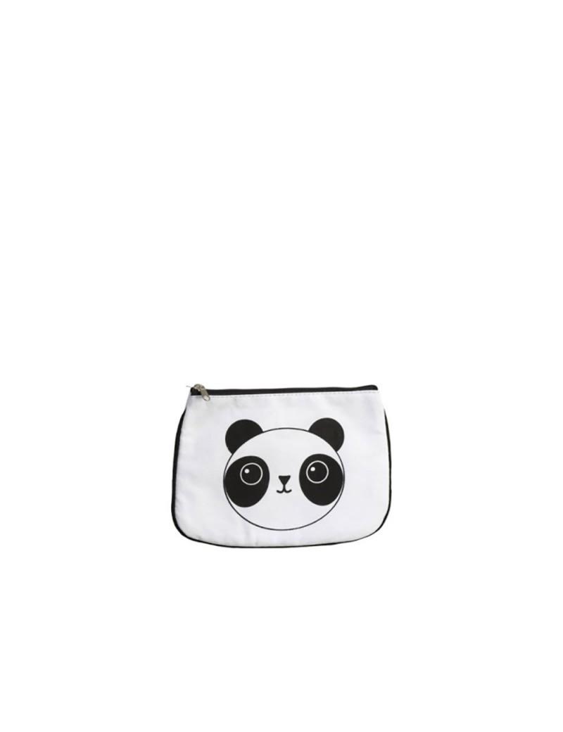 Pochette Panda Resine Blanc/Noir
