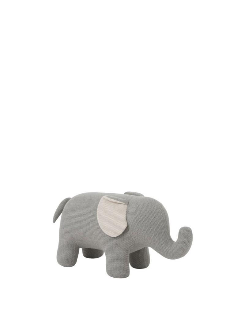 Elephant Bebe Coton Gris/Ecru L