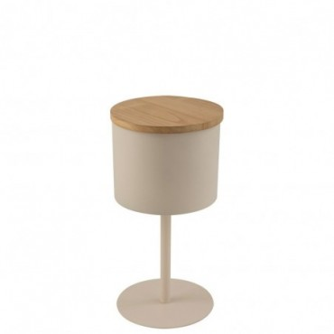 Table D'Appoint Leonie Metal Beige Petite taille
