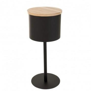 Table D'Appoint Leonie Metal Noir Grande taille