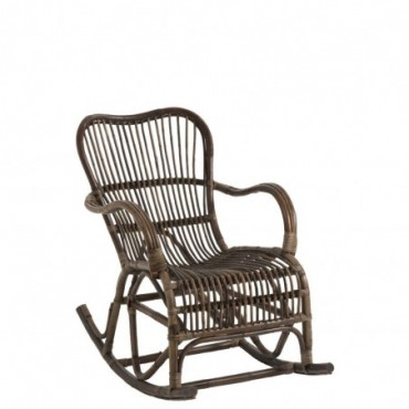 Rocking Chair Rotin Marron
