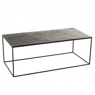 Table De Salon Rectangulaire Oxidize Aluminium/Metal Antique Noir/Vert