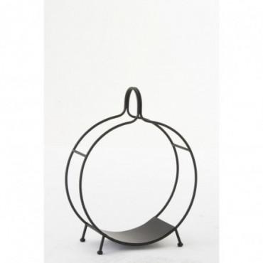 Chaise + Bras + Coussin Bois Naturel/Blanc