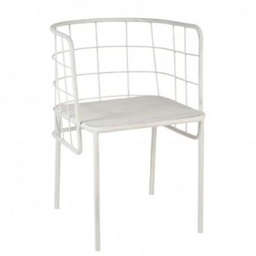 Chaise Cuve Metal Blanc