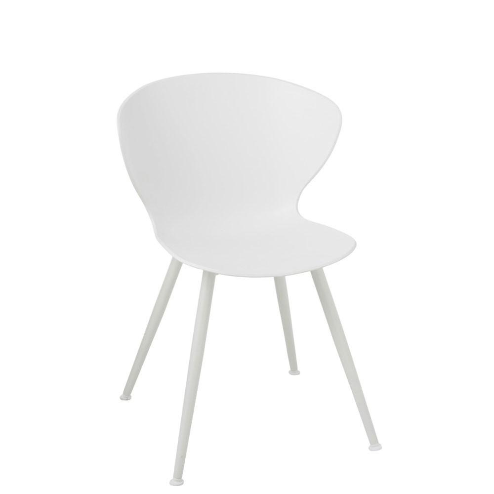 Chaise Vince Plastique Blanc