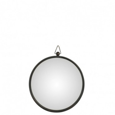 Miroir Bombe Metal Noir Taille moyenne