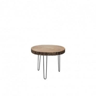 Table Gigogne Paulownia/Metal Naturel Small