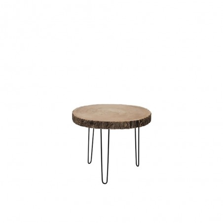 Table Gigogne Paulownia/Metal Naturel Small