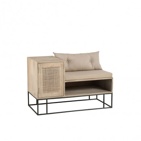 Banc Hall 1 personne Rotin Manguier Naturel/beige