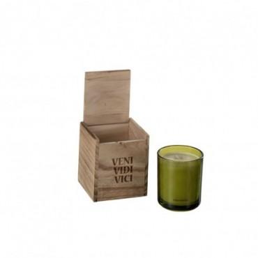 Boite Bougies Parfumées Veni Vidi Vici Cire Vert S 50H